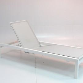Chaise Longue Chicago Aluminium Blanc