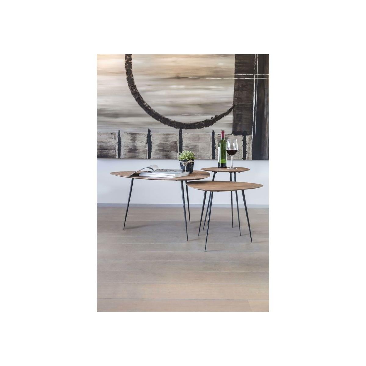 Table Basse Efran Acacia 80x80