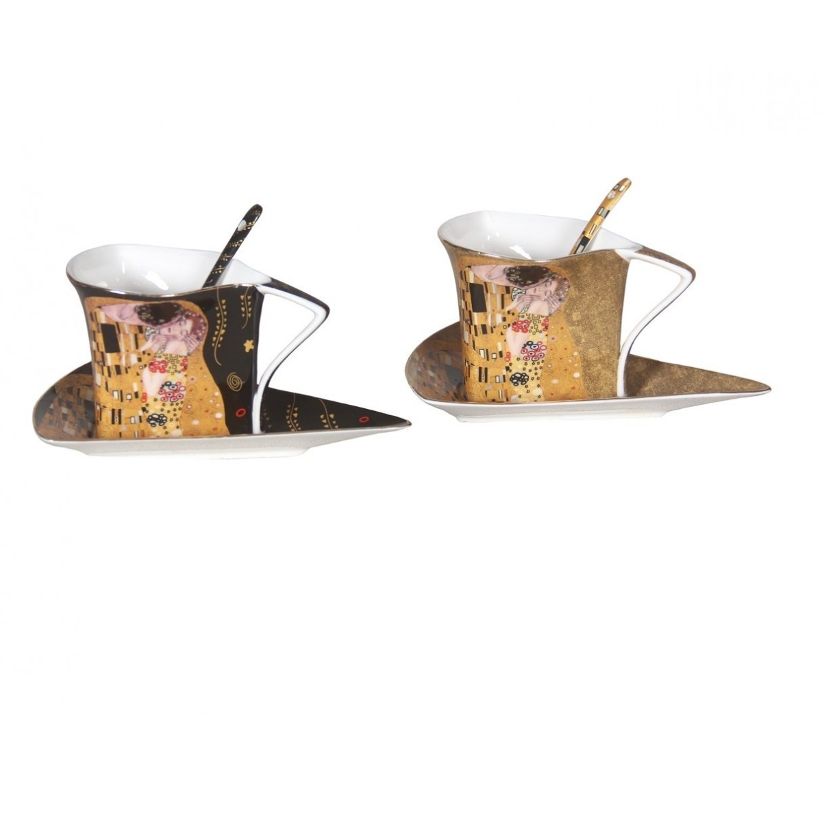 Coffret 2 Tasses Triangles Klimt