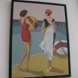 Tableau Femmes sur la plage