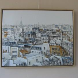 Tableau Toits de Paris