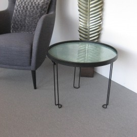 Table Basse Metal et aspect marbre