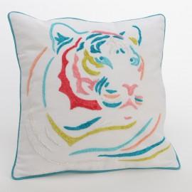 Coussin Tigre Coloré 40x40
