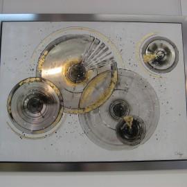 Tableau Disques Argent 133 x 103