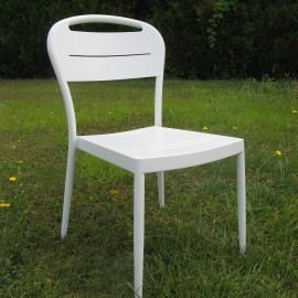 Chaise Sofia en Aluminium Blanc