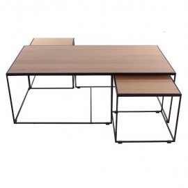 Série de 3 tables basses Rubic