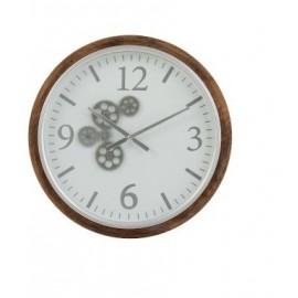 Horloge Engrenage Blanc 52x52