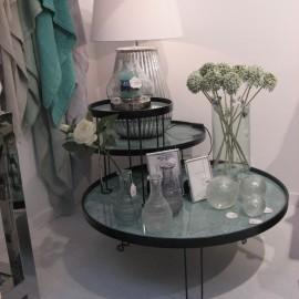 Table Basse Metal et aspect marbre 63x63