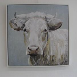 Tableau Vache blanche