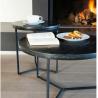 Tables Basses Marbre Primo Noir 40 x 42h cm