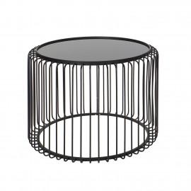 Table Basse basse Métal Filaire Ronde 68x68