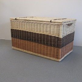 Malle osier Tricolore 90 x 50 cm