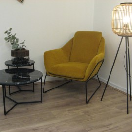 Fauteuil Isabelle Moutarde