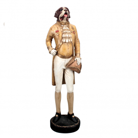 Statue Chien Gentleman