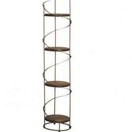 Etagère Ronde métal Métal et bois 41x160