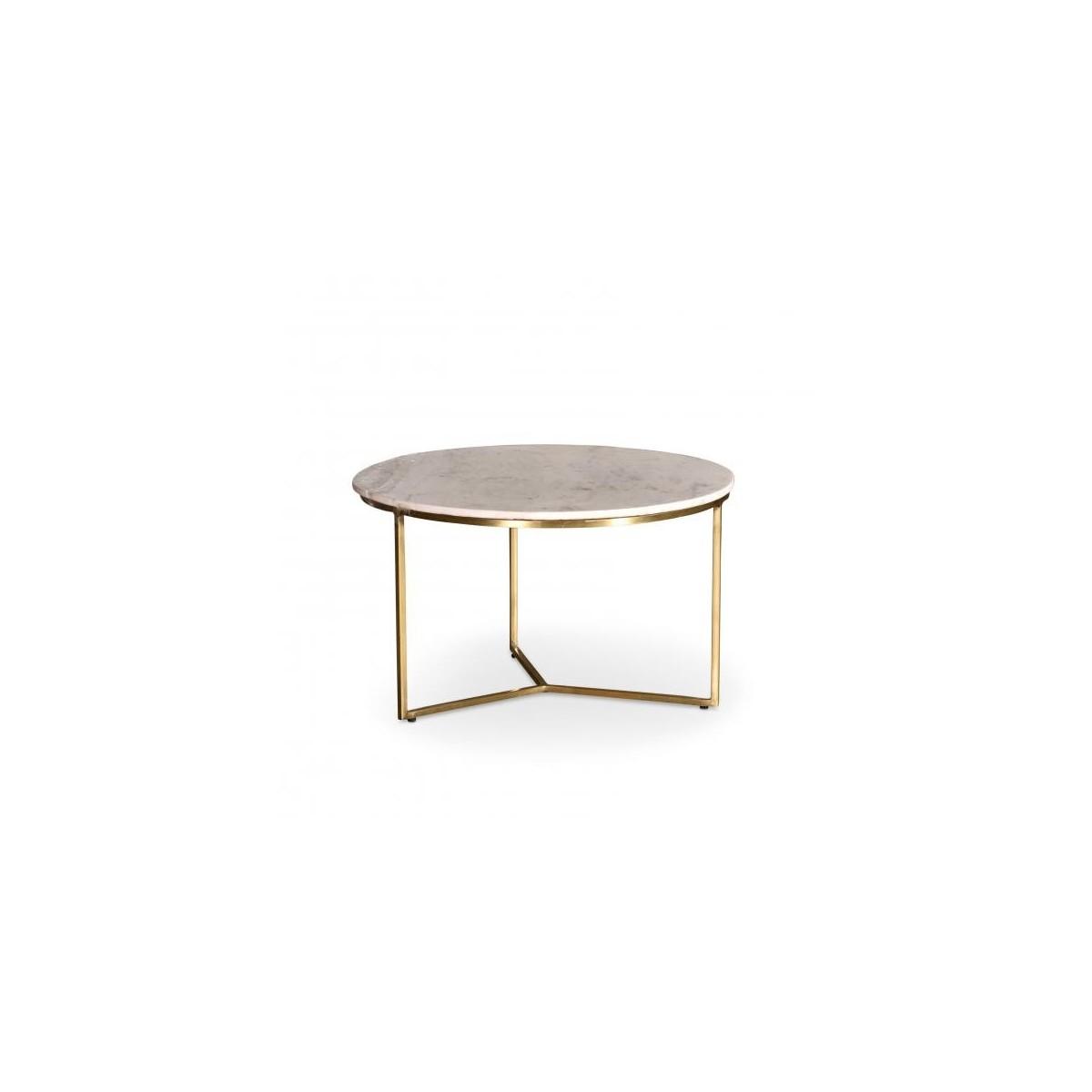 Tables Basses Marbre Primo Blanc 40 x 42 h cm