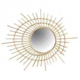 Miroir Rotin Spirale Naturel 75x60