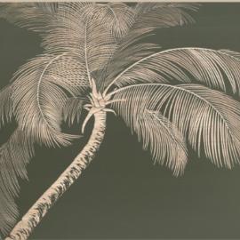 Tableau en Bois Sculpté Palmier