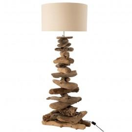 Lampe en bois flotté 135 cm h