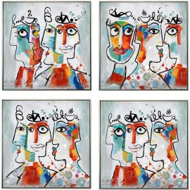 Tableau Picasso Blanc 40x40