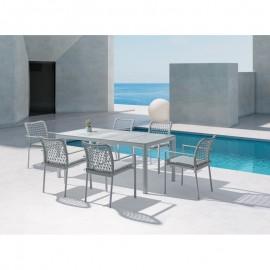 Table 180x90 Vérona Aluminium et Verre