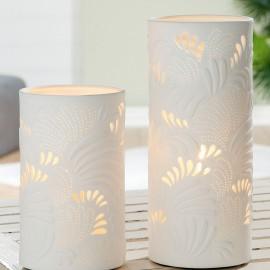 Lampe Porcelaine Feuilles