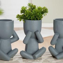 Vase Ciment les 3 sages