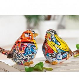Sculpture Oiseau Pop Art H.10cm
