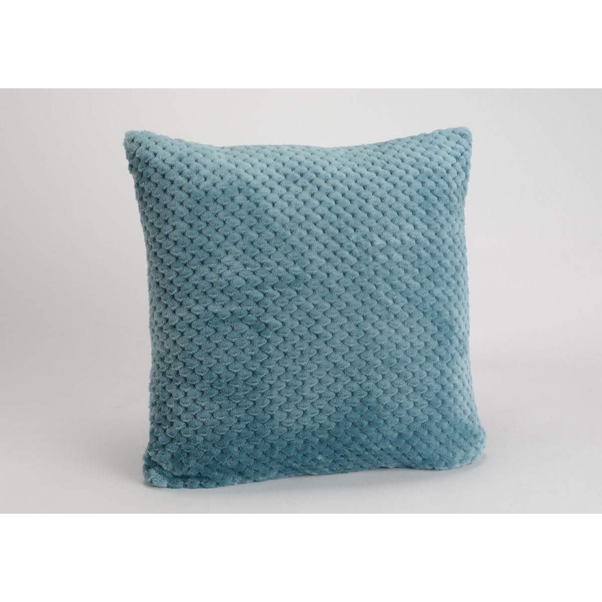 coussin damier bleu