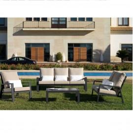 Salon Lagos : Canapé 3P + Canapé 2 places + 1 fauteuil