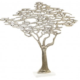 Figurine Arbre en Aluminium Doré