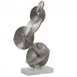 Figurine en Aluminium Cercles Argentés