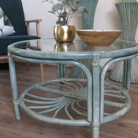 Table Basse en Rotin Zoé Mare