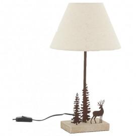 Lampe en métal et bois Cerf