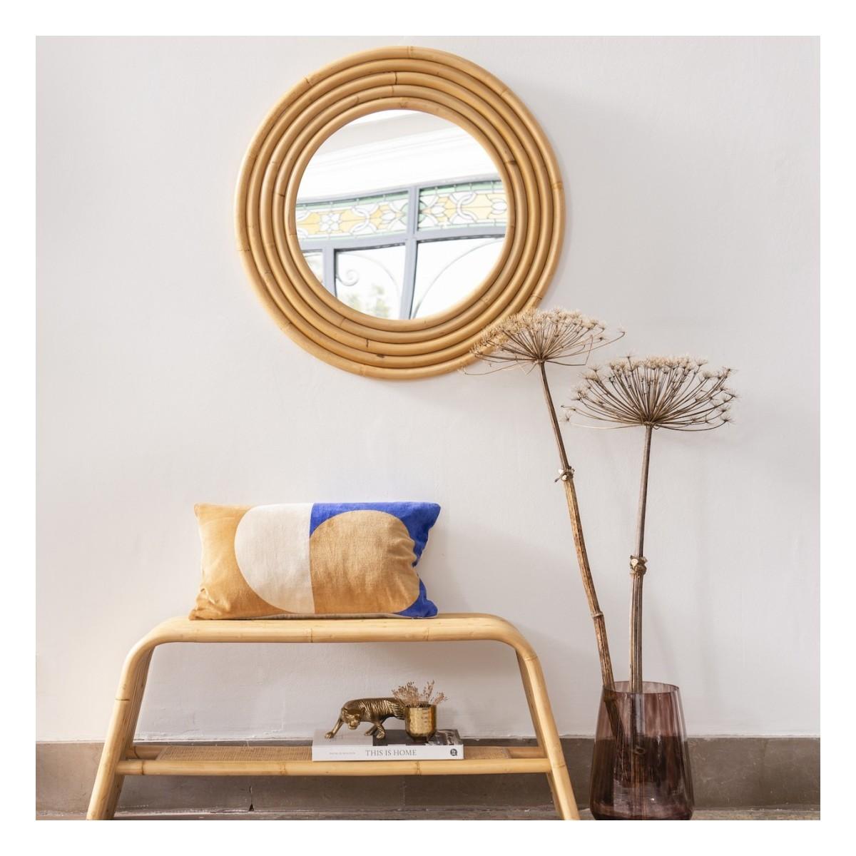 Miroir Rotin Riviera 70x70