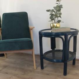 Table Basse en Rotin 55x55 Léon Bleu