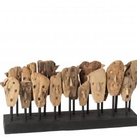 Sculpture à poser Masques Ethniques