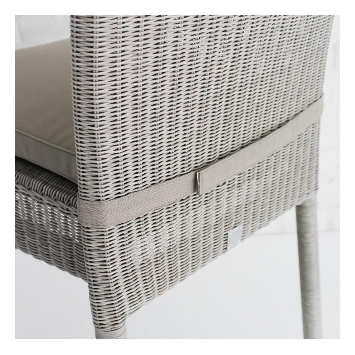 coussin chaise en r sine isabelle coloris gris. Black Bedroom Furniture Sets. Home Design Ideas