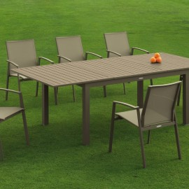 Table Faro Taupe Extensible 180/240