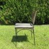 Chaise Baltimore Rotin Naturel et pieds métal noir