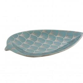 Coupe Fruit Porcelaine Feuille 27 cm