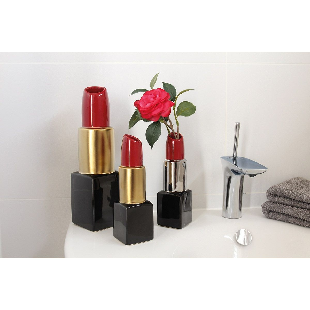 Vase Rouge à lèvres