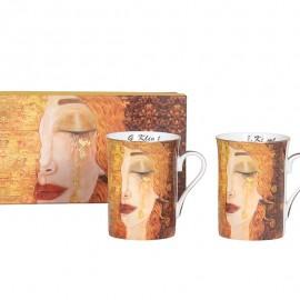 Coffret 2 Mugs 300ml Klimt Larme d'or