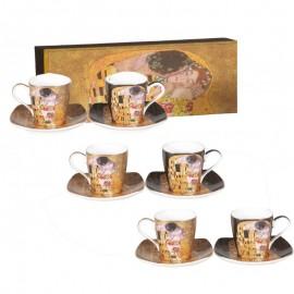 Coffret 6 Tasses café Klimt le baiser