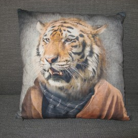 Coussin Homme-Tigre