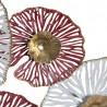 Déco Murale Métal Fleurs Rose et Blanche