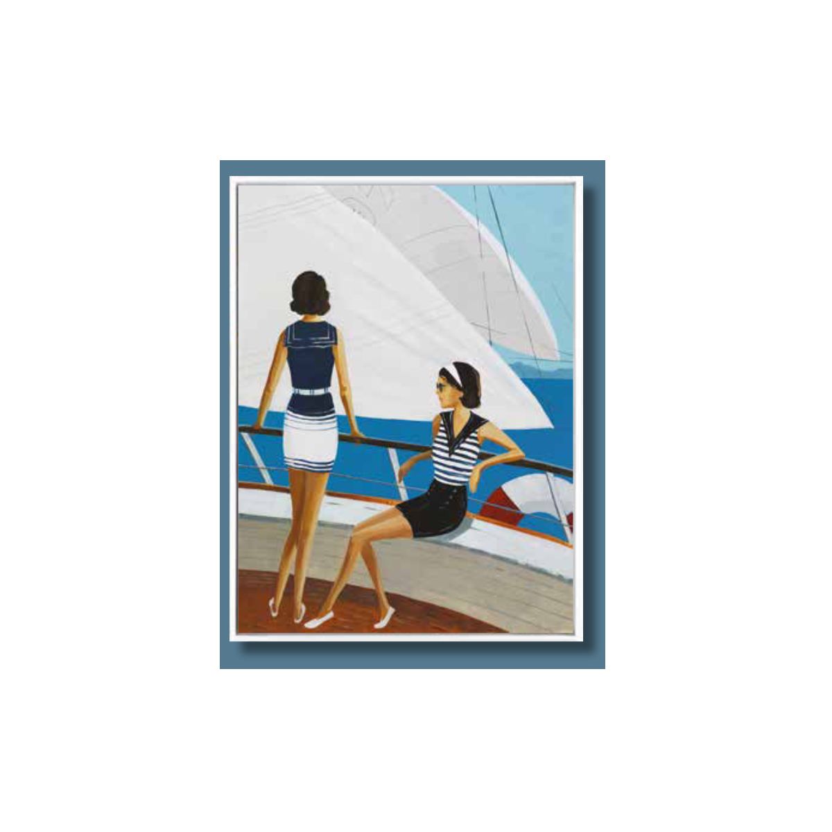 Tableau Femmes sur Voilier 60x80