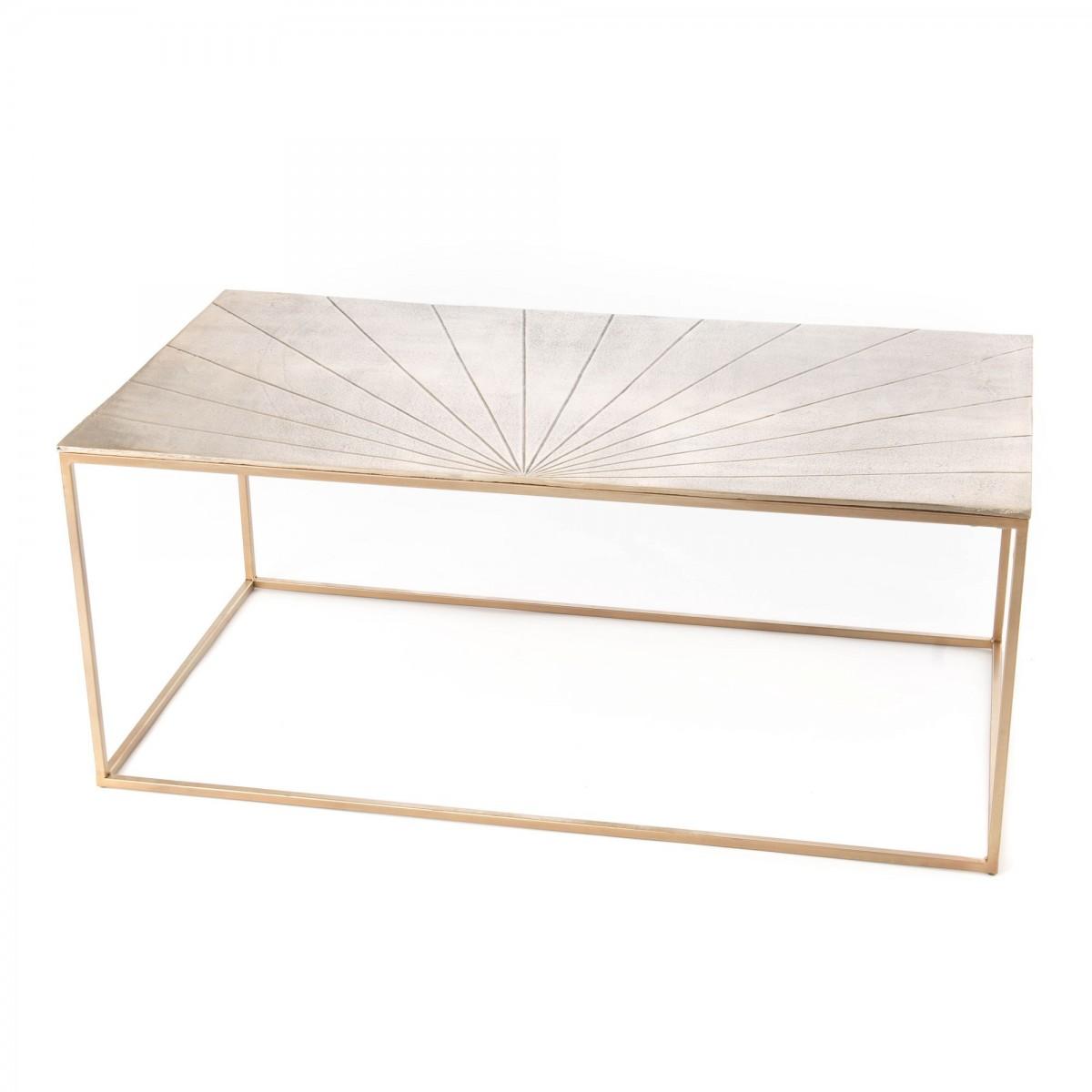 Table Basse Aurore Métal et Aluminium