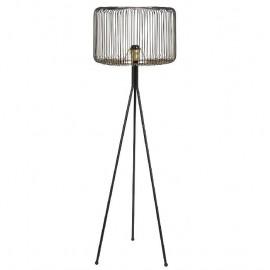 Lampadaire en métal Noir Tria H.171cm