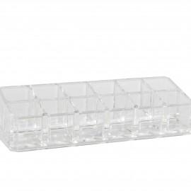 boite à bijoux transparent 12 compartiments